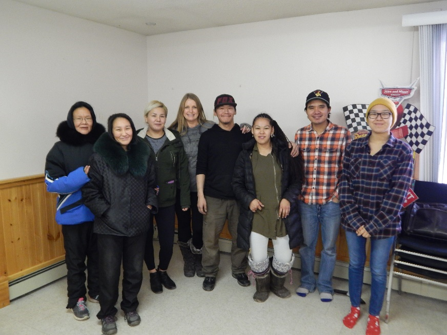 Iqaluit participants with Instructor Trea Stormhunter - PMC Renewal
